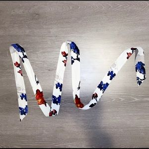 Express Floral Print Silk Headband Scarf NWOT